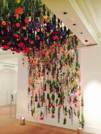 Sotheby's flower entrance