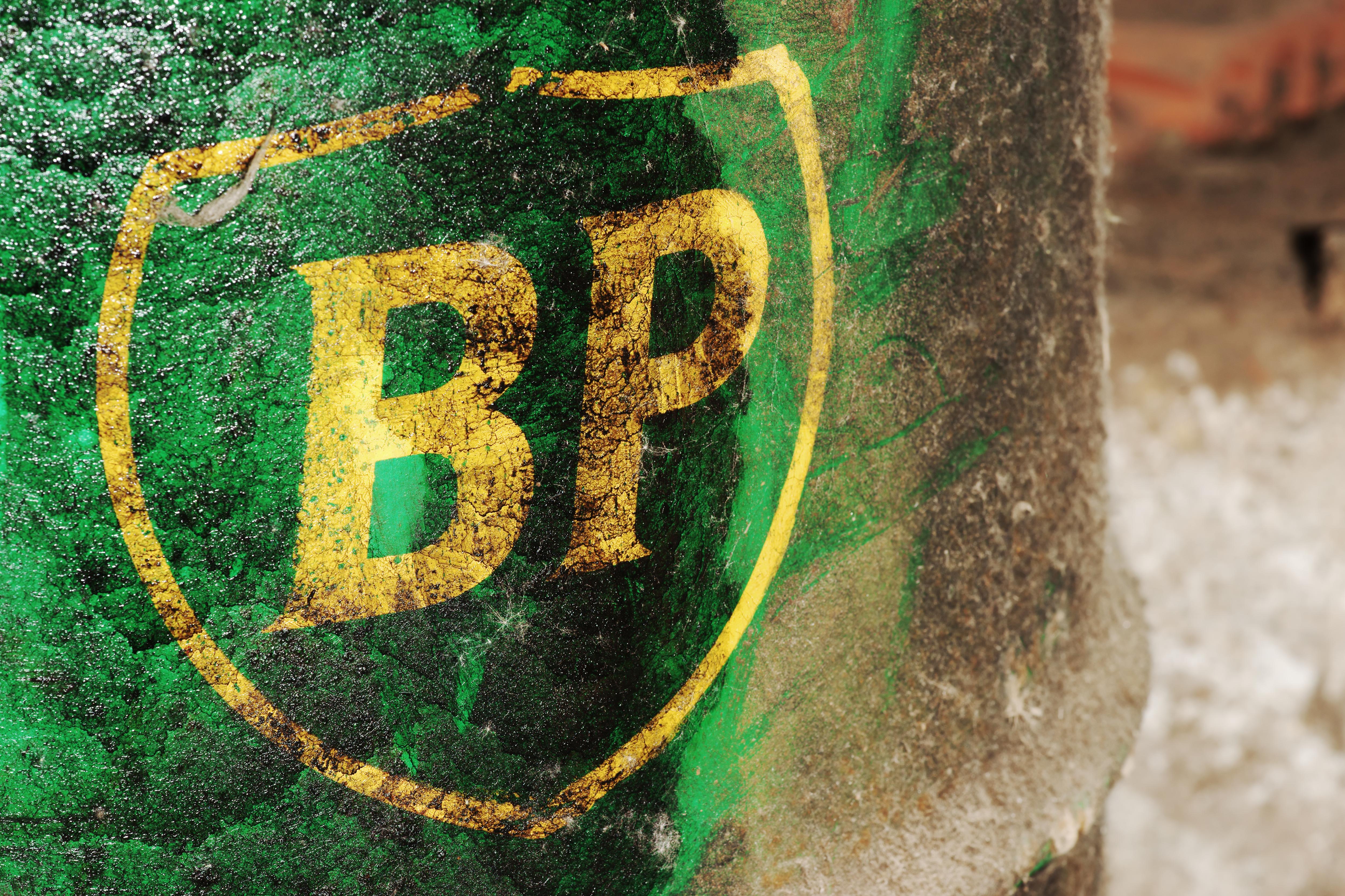 Old British Petroleum Logo On A Barrel Art Law More